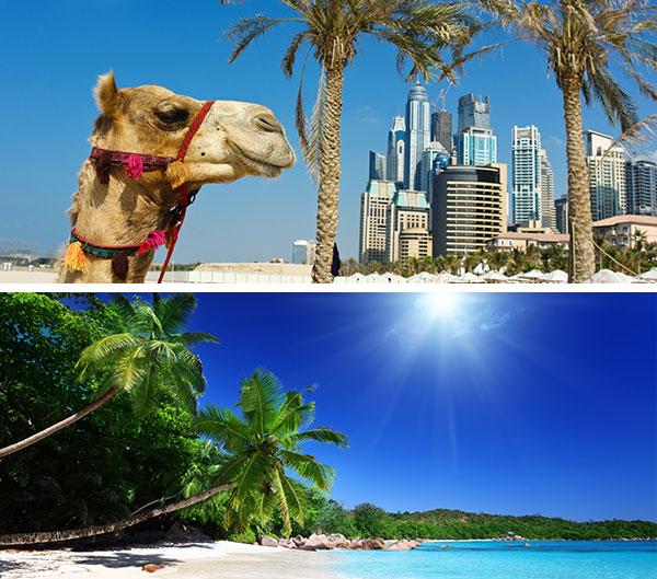 Dubai y Seychelles