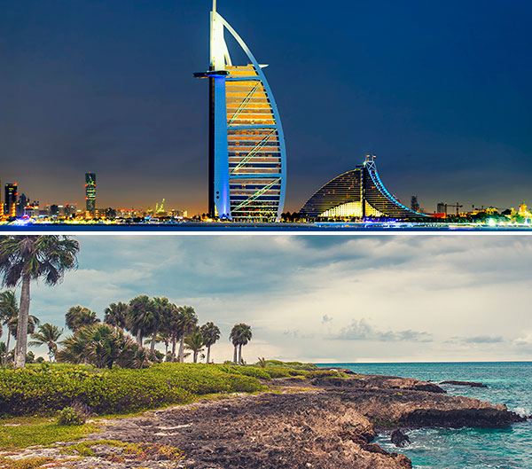 Viajar a Dubai e Islas Mauricio